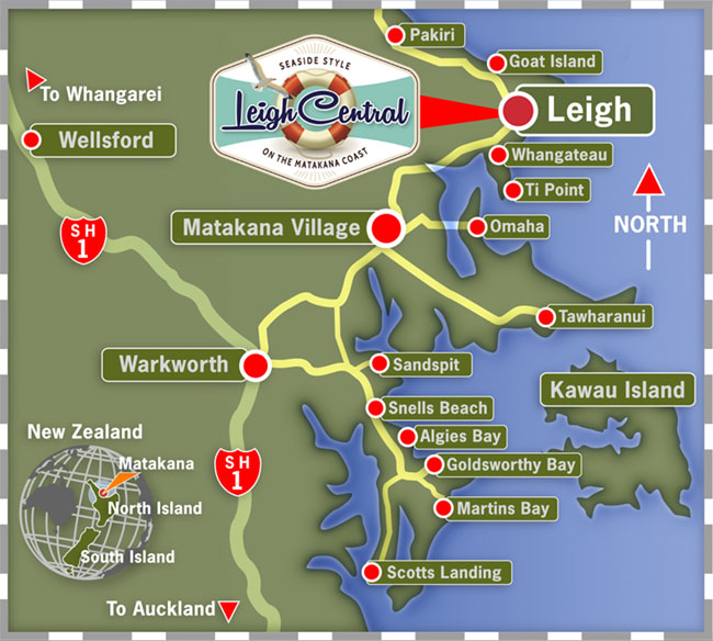 Map Directions to find us Leigh Central Seaside Style on the